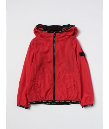 Felpa gialla, logo frontale, bande nere, Antony Morato